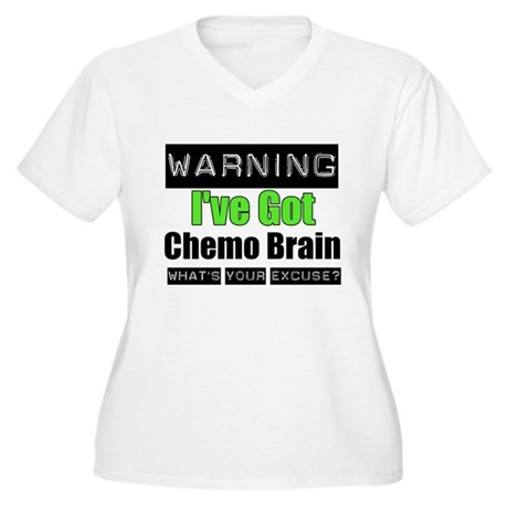 Chemo Brain Women's Plus Size V-Neck T-Shirt