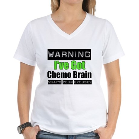 Chemo Brain Women's V-Neck T-Shirt