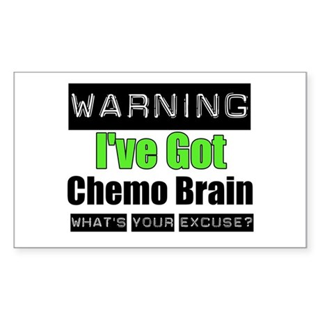 Chemo Brain Rectangle Sticker 10 pk)