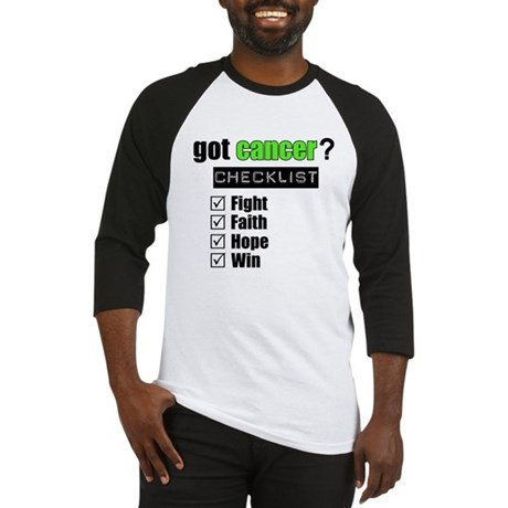 Got Cancer Checklist (Lime) Baseball Jersey