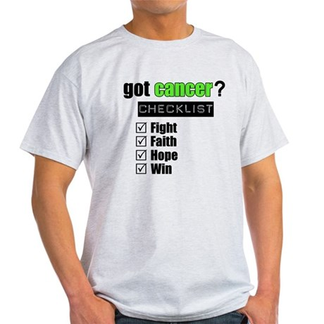 Got Cancer Checklist (Lime) Light T-Shirt