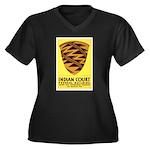 Pomo Basket Women's Plus Size V-Neck Dark T-Shirt