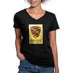 Pomo Basket Women's V-Neck Dark T-Shirt