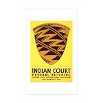Pomo Basket Rectangle Sticker 50 pk)