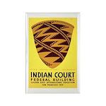 Pomo Basket Rectangle Magnet (100 pack)