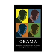 Limited Edition Obama Rectangle Sticker 10 pk)