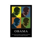Limited Edition Obama Rectangle Magnet