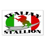 Italian Stallion Rectangle Sticker