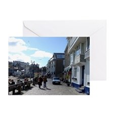 Cobbled Streets of St Ives  Greeting Cards (Packag