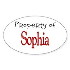 Sophia Oval Decal
