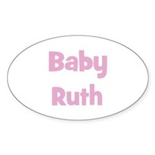 Baby Ruth (pink) Oval Decal