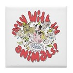 PARTY WITH THE ANIMALS Tile Coaster