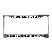 German Wirehaired Pointer License Plate Frames