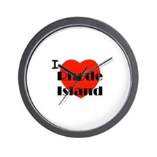 I Love Rhode Island Wall Clock
