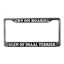 K9 Glen Of Imaal Terrier License Plate Frame