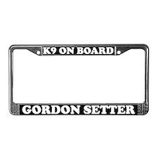 K9 On Board Gordon Setter License Plate Frame
