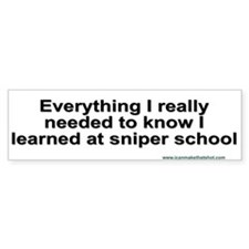 sniper school bumper sticker