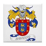 Navarro Family Crest Tile Coaster