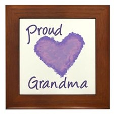 Proud Grandma Framed Tile