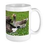 Odd Goose Couple Large Mug