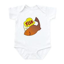 1240 Fishi Thinking Infant Bodysuit