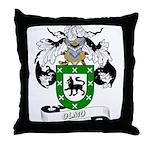 Olmo Family Crest Throw Pillow