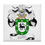 Olmo Family Crest Tile Coaster