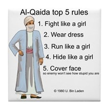 Al-Qaida rules of engagement Tile Coaster