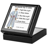 Al-Qaida rules of engagement Keepsake Box