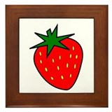Cute Strawberry Framed Tile