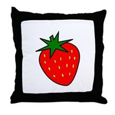 Cute Strawberry Throw Pillow