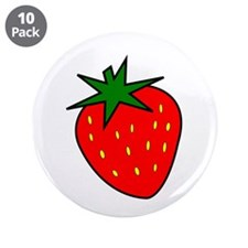 "Cute Strawberry 3.5"" Button (10 pack)"