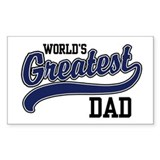 World's Greatest Dad Rectangle  Aufkleber