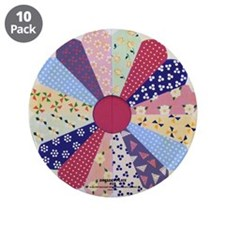 "DRESDEN PLATE 3.5"" Button (10 pack)"