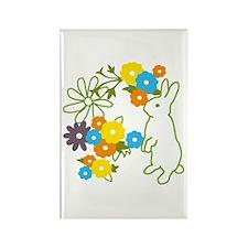 flower bunny Rectangle Magnet