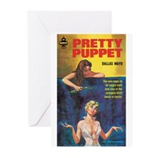 "Greeting (10)-""Pretty Puppet"""