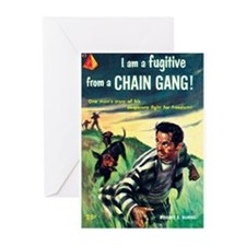 """Greeting (10)-""""I Am Fugitive From Chain Gang!"""