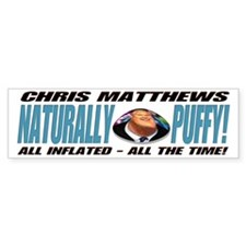 Naturally Puffy Hardball Bumper Car Sticker