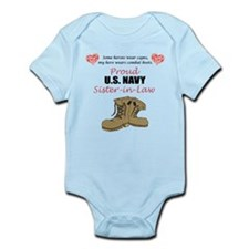 Proud US Navy Sister-in-Law Infant Bodysuit