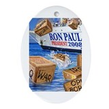Ron Paul Tea Party Oval Ornament