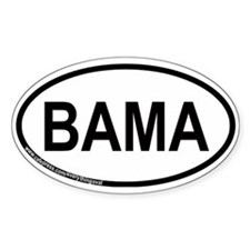 Bama Oval Decal