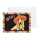Fiesta Basset Greeting Card