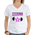 Fitness rockstar Women's V-Neck T-Shirt