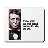 "Thoreau ""What You See"" Mousepad"