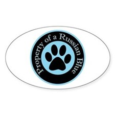Property of a Russian Blue Oval Decal