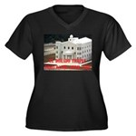 FLDS Mormon Temple Women's Plus Size V-Neck Dark T