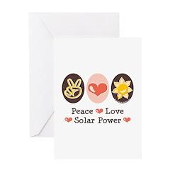 Peace Love Solar Power Greeting Card