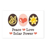 Peace Love Solar Power Postcards (Package of 8)