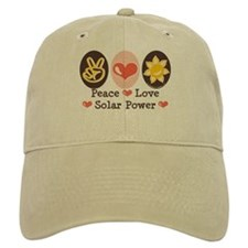 Peace Love Solar Power Baseball Cap