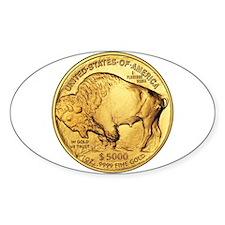 Gold Buffalo Oval Decal